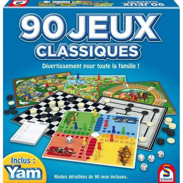 JEU SOCIÉTÉ - PLATEAU Coffret de 90 Jeux classiques