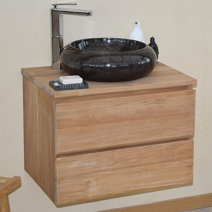 meuble sous vasque en teck - achat / vente meuble sous vasque en