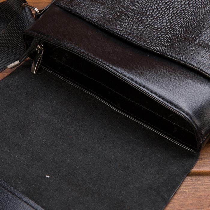 love7666 Noir Dedasing® Cuir Épaule En Unique Shopping Homme Multifonction À Provisions Capacité Sac PZCWrPq7