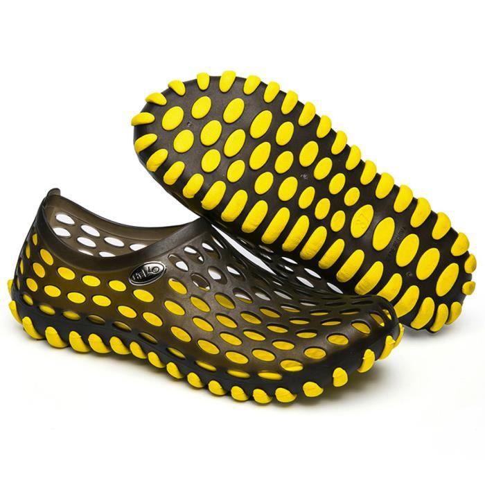 Séchage Sandales Respirant Femmes En Chaussures jaune Pantoufle Air Hommes Rapide Unisexe Plage Plein pq1wap