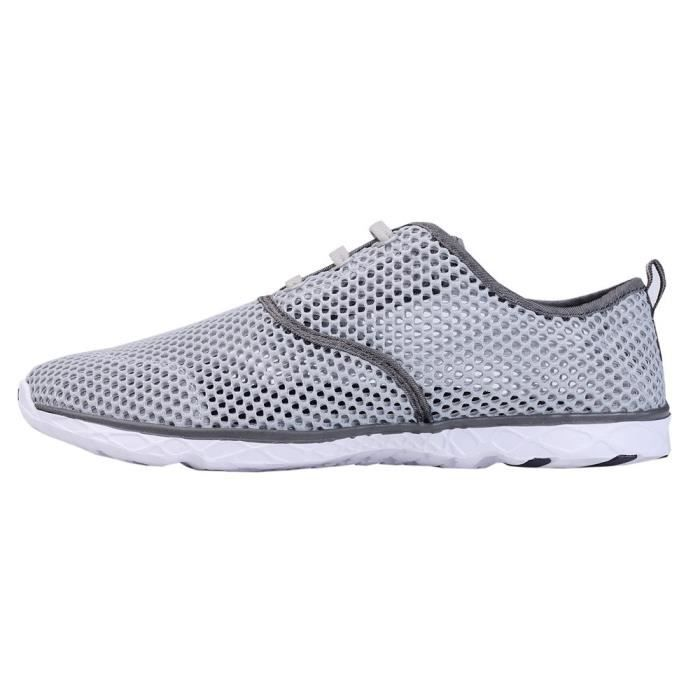 Water Shoes Mens Quick Drying Aqua Shoes Beach Pool Shoes Mesh Slip On Q57LK Taille-40 1-2