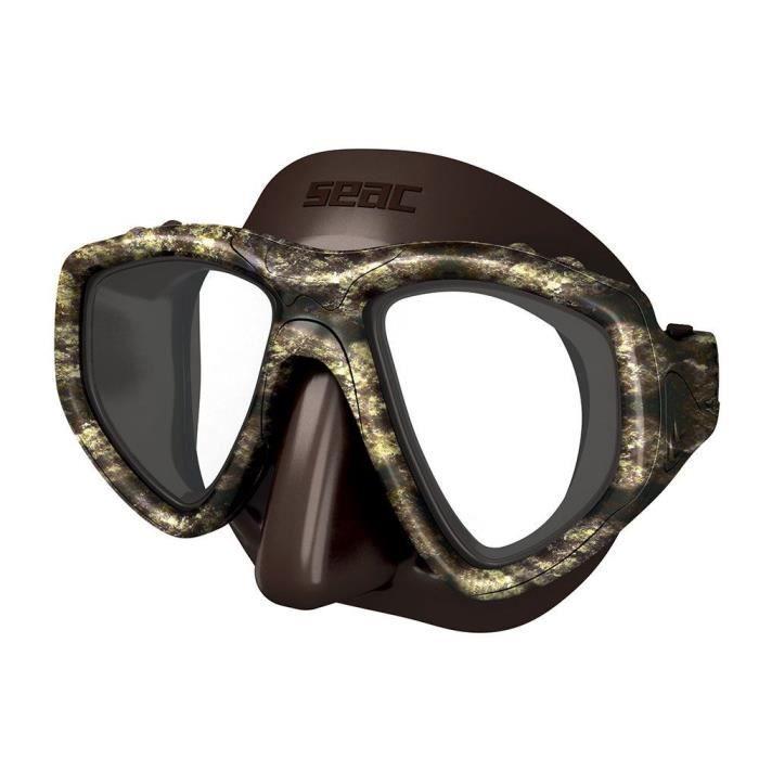 SEAC Masque de plongée One Kama - Silicone - Marron - Haute définition