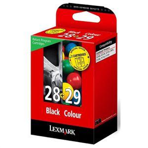 CARTOUCHE IMPRIMANTE Lexmark Pack de 2 Cartouches d'encre 28 et 29 LRP