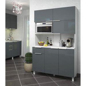 Meuble micro ondes achat vente meuble micro ondes pas - Buffet de cuisine gris ...