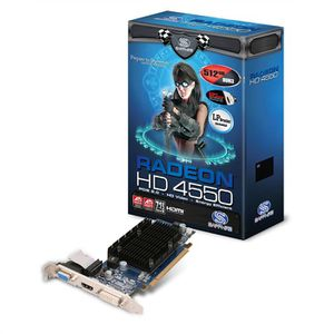 CARTE GRAPHIQUE INTERNE Sapphire ATI Radeon HD 4550 1Go HM GDDR3