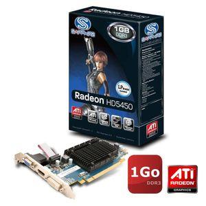 CARTE GRAPHIQUE INTERNE Sapphire ATI Radeon HD5450 1Go DDR3