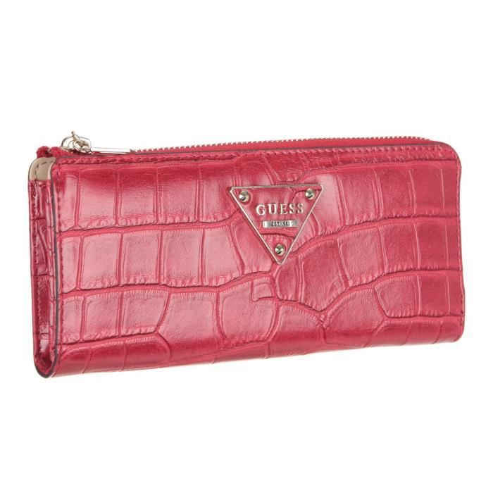 Guess Portefeuille Rhoda Rouge Femme Rouge Achat Vente