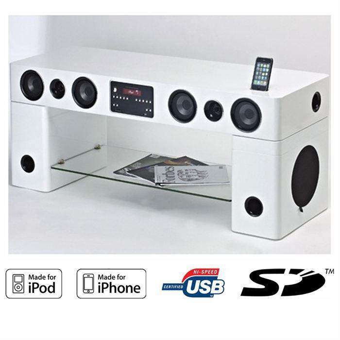Sound Vision Sv 120 Blanc Meuble Audio Meuble Hifi Integree Avis