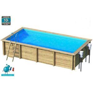 Piscine hors sol bois achat vente piscine hors sol for Piscine hors sol bois rectangulaire 6x3