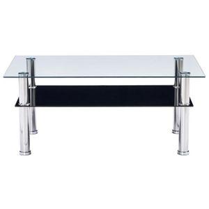 Table Basse Verre Noir.Table Basse Noir Verre Trempe