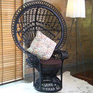 FAUTEUIL JARDIN  Chaise ou fauteuil Emmanuelle de jardin en rotin n