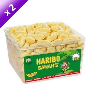 CONFISERIE DE SUCRE HARIBO Lot de 2 Banan's Bac 210 Pièces