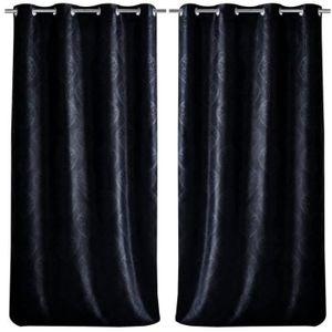 rideau occultant par 2 achat vente rideau occultant par 2 pas cher cdiscount. Black Bedroom Furniture Sets. Home Design Ideas