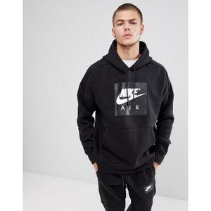 Gros Air Hoodie Nike Logo Enfiler Noir Avec Sweatshirt À SqYw5ESC