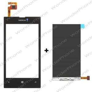 PIÈCE TÉLÉPHONE Vitre Tactile sur Châssis + LCD Nokia Lumia 520