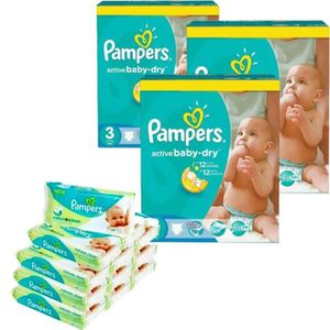 COUCHE Pack bébé propre 432 Couches Pampers Active Baby D