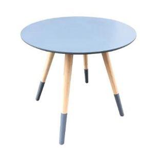 TABLE D'APPOINT Table café gris foncé D48 Mileo MDF, L.48 x l.48 x