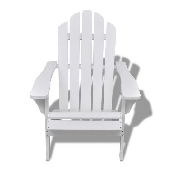 Chaises d\'exterieur Chaise de salon jardin en bois blanche chaise ...