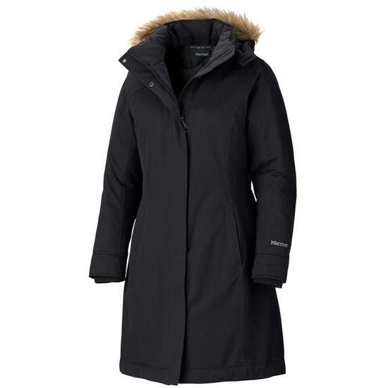53556ef83752 Vêtements femme Vestes casual Marmot Chelsea Coat Noir Noir - Achat   Vente  veste - Cdiscount