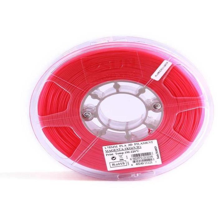 ESUN Filament pour Imprimante 3D PLA ESUN - Magenta - 3 mm - 1kg