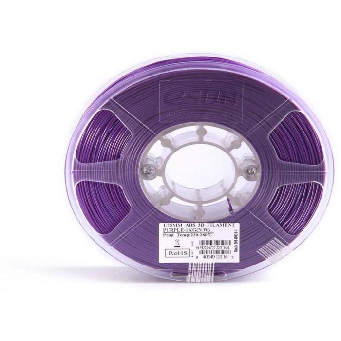 ESUN Filament pour Imprimante 3D ABS - Violet - 3 mm - 1kg