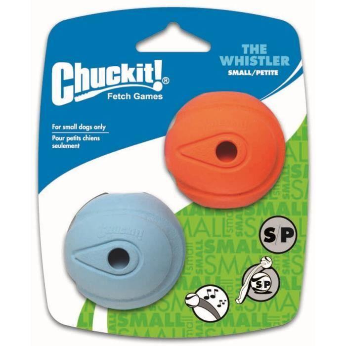 CHUCKIT! The whistler 2-PK - Balle qui siffle S en caoutchouc Ø 5cm - Pour chien