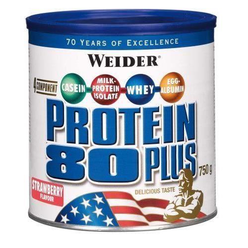 WEIDER Boîte de Protein 80+ Fraise 750g