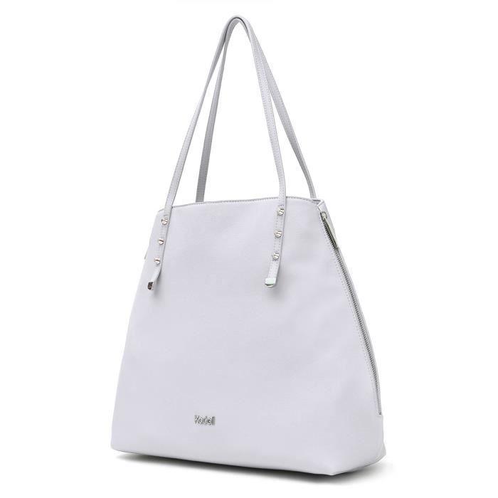 Grand sac à main en cuir fourre-tout dépaule pour dames Cabas style simple XFY5S