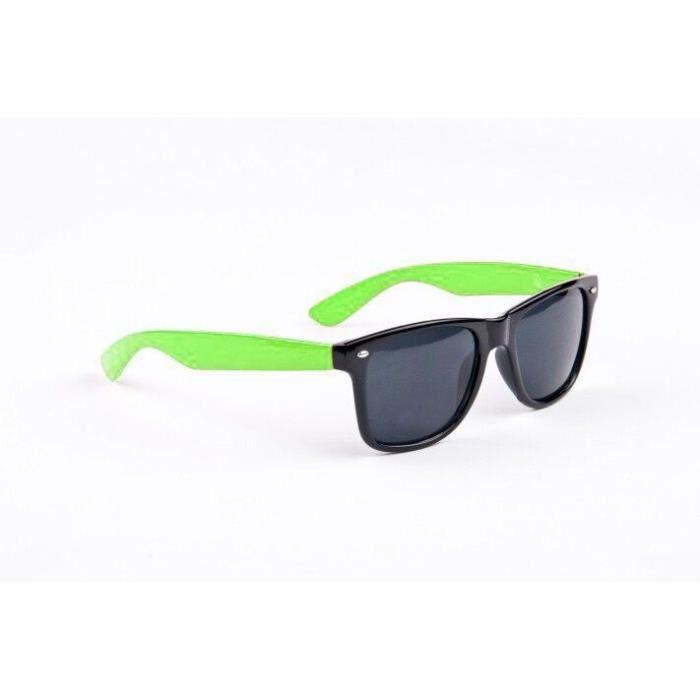 Lunettes Style Wayfarer Branche Verte Vert - Achat   Vente lunettes ... 9bb07406d612