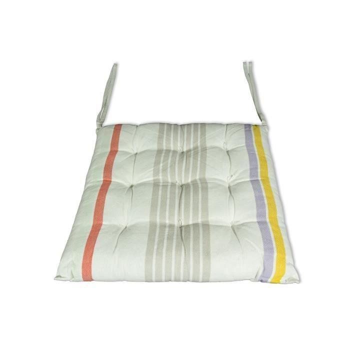 galette de chaise multicolore achat vente galette de chaise multicolore pas cher cdiscount. Black Bedroom Furniture Sets. Home Design Ideas