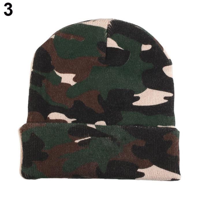 d6fc7ae20f Bonnet chaud hiver illuminé LED pêche à la ligne de camping en cours  d'exécution tricoté chapeau camouflage