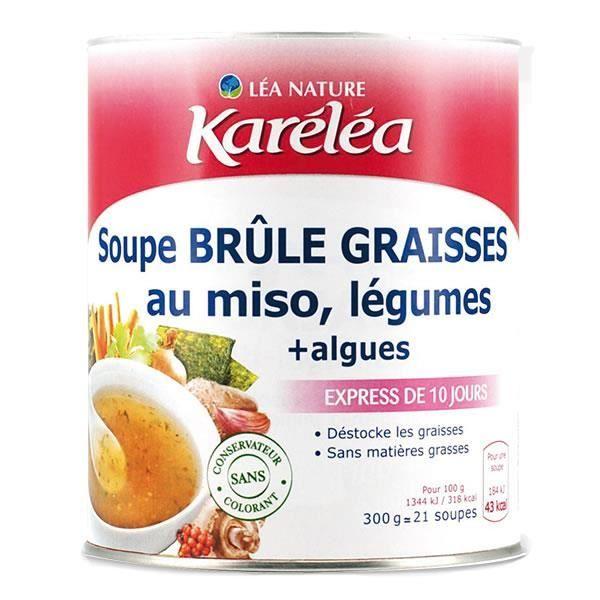 KARELEA Soupe brûle graisses au miso et légumes - 300 g ...