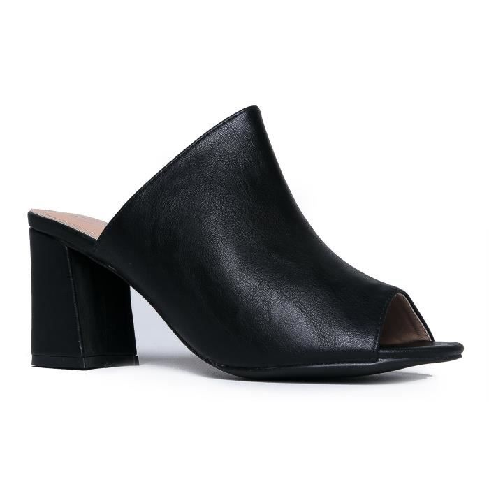 Sandales à talons hauts Mule - Slip quotidien confortable sur le talon - Tendance Slipper mignon Chaussures - Paix JJG4X Taille-38 1