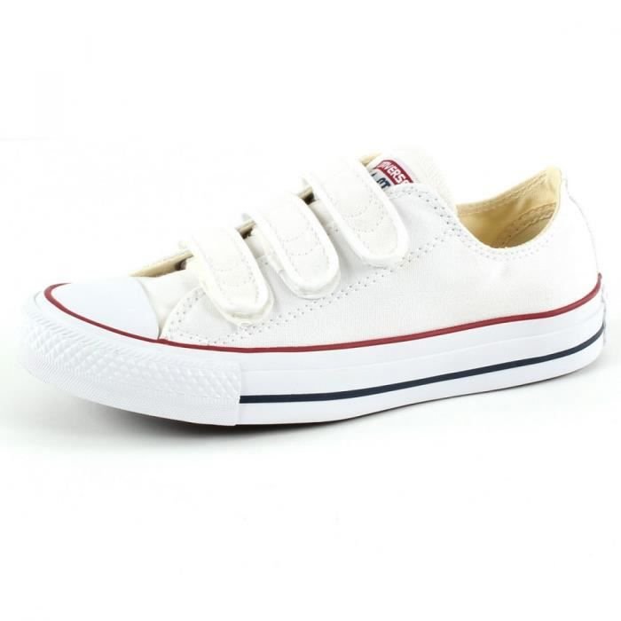 Baskets Converse BASKET CT ALL STAR OX WHITE VELCRO dCfO9