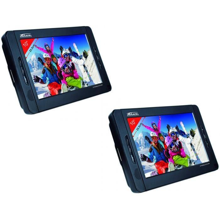 LECTEUR DVD PORTABLE TAKARA VRT210 Lecteur DVD portable double écran -