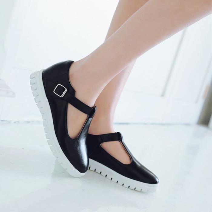 Sandales Femme Plates Sports Trou de décoration Nouvelle Mode L'automne Plateforme Lacets Confortable