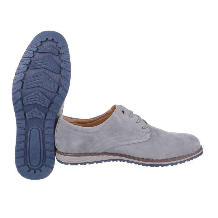 homme chaussures flâneurs lacer Slipper bottes gris 40 YsHK6L