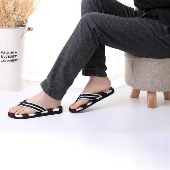 D'été Plage Pour Flops Hommes Extérieures Sandales D'intérieur Pantoufles Flip noir De Chaussures 0nwkOP