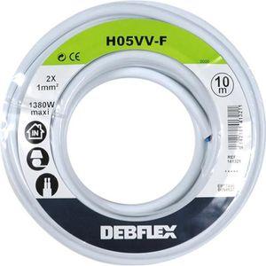 CÂBLE - FIL - GAINE Câble électrique souple ho5 vvf 2x1 mm² (blanc / 1