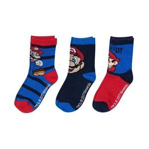 CHAUSSETTES Lot de 3 paires de chaussettes Super Mario Bros