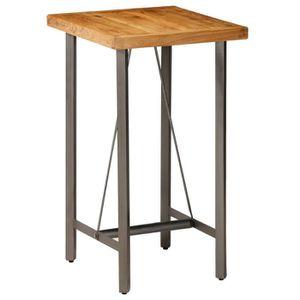 8b47b4c25fcf36 MANGE-DEBOUT Table de bar Teck recyclé massif 60 x 60 x 107 cm