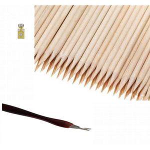 REPOUSSE CUTICULES 50 Repousses cuticules en bois + 1 petit coupe cut