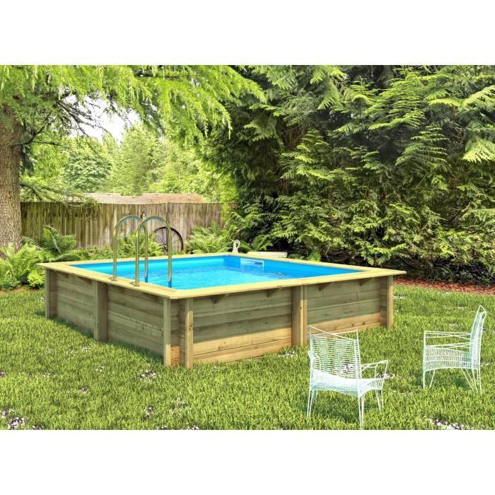 Weva piscine bois carr e 3x3 m hauteur 1 33 m achat for Achat piscine bois