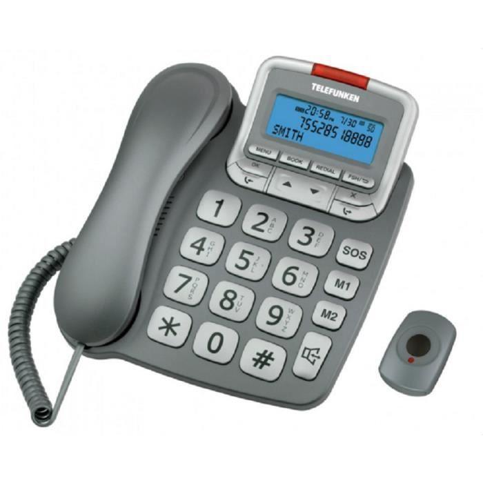 TELEFUNKEN TF 591 Filaire avec SOS Solo Argent