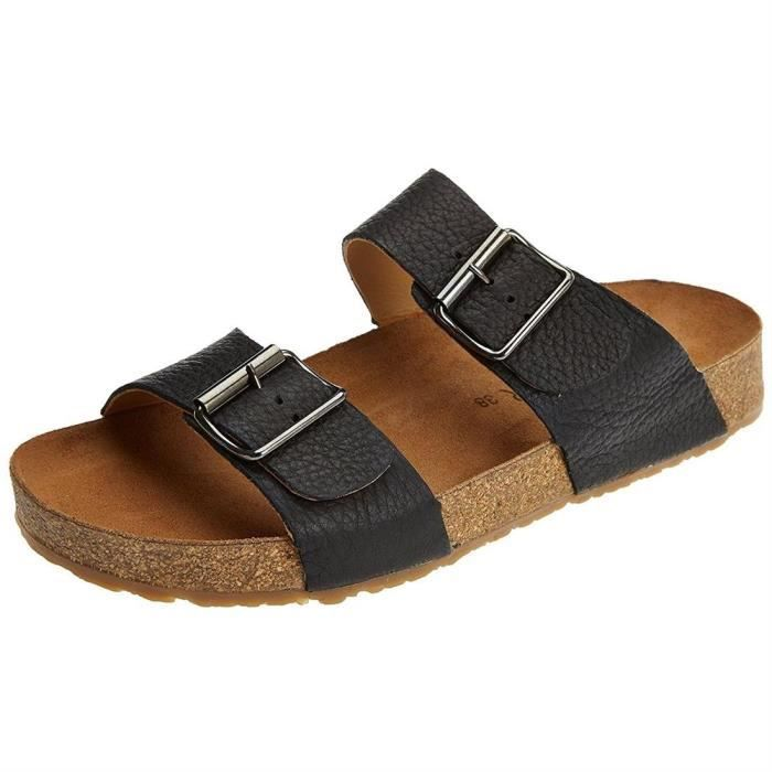 sandales/nu-pieds bio andrea homme haflinger 819016 39 Noir