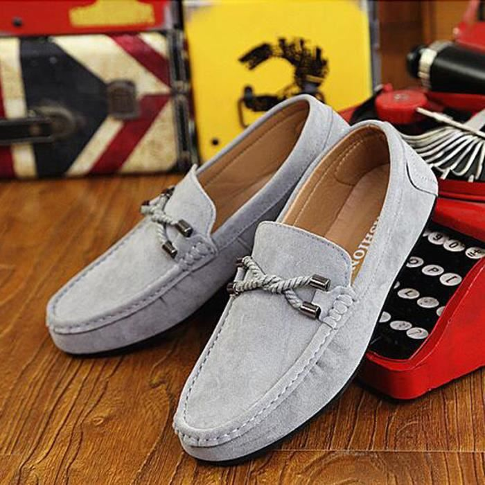 27ccbec6b90 Chaussure Homme Basket Skate Shoes Bateau Shoes KIANII® Gris Gris ...