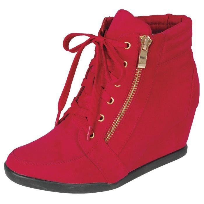Lacets Zipper talon compensé Sneaker Mode CPQDG Taille-37