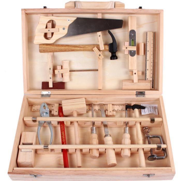 boite a outils enfants en bois achat vente jeux et. Black Bedroom Furniture Sets. Home Design Ideas