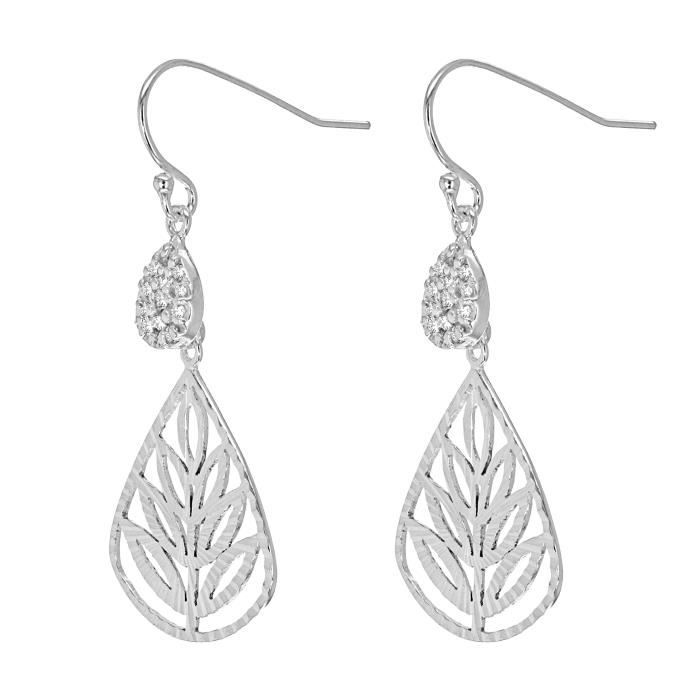 Fine Earring Argent 925-1000 Rond AJEWS