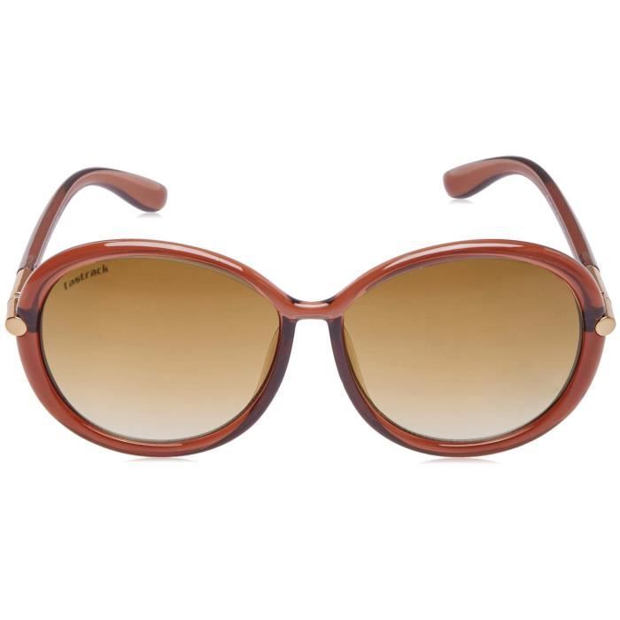 Fastrack Uv Protected Oval Sunglasses (p347br1f|60|brown Color BEJKQ